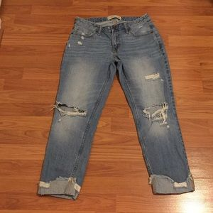 Abercrombie & Fitch Distressed Boyfriend Jeans